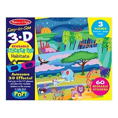 Melissa And Doug Easy-to-See 3-D Reusable Sticker - Habitats (MLSSAND1614) 24133323