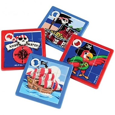 US Toy 8 Piece Pirate Slide Puzzles - 12 Per Pack - Pack of 17 (USTCYC173159)