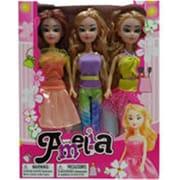 DDI 12 in. Amelia Doll Trio Light Skin, Assorted Colors (DLR339575)