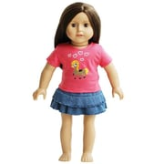 New York Doll Collection Cowgirl Pony T-Shirt & Denim Skirt (NYDC1129)