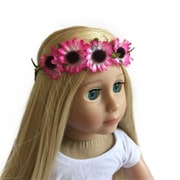 New York Doll Collection Fkirak Sunflower Wreath Pink (NYDC1120)