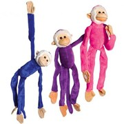 US Toy Plush Multicolor Hanging Monkeys - 12 Per Pack - Pack of 2 (USTCYC175256)