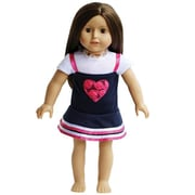 New York Doll Collection Heart Jumper with White T-Shirt (NYDC1038)