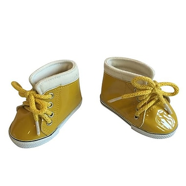 New York Doll Collection Leather Sneaker, Yellow (NYDC1029)
