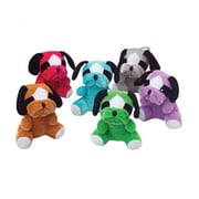 US Toy Plush Multicolor Bull Dogs - 12 Per Pack - Pack of 4 (USTCYC175154)