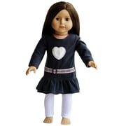 New York Doll Collection Grey Dress & Leggings (NYDC1093)