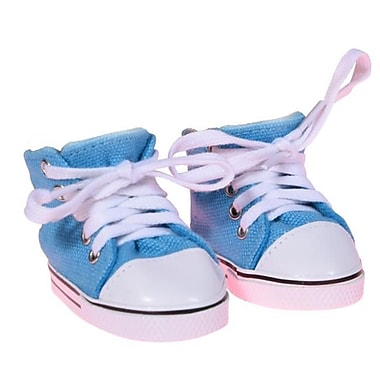 New York Doll Collection Canvas Sneakers, Ocean Blue (NYDC1103)