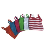 New York Doll Collection Cami Tops & Striped, Multi-Color - Set of 7 (NYDC1108)