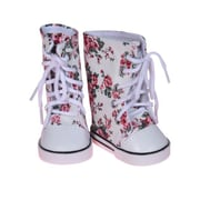 New York Doll Collection Printed Canvas Sneakers White (NYDC1140)