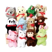 US Toy Plush Ribbon Animal Assortment - 12 Per Pack - Pack of 4 (USTCYC175312)