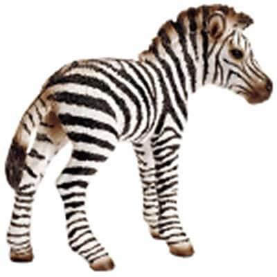 Schleich North America Zebra Foal -White & Black (TRVAL97453) 24133599