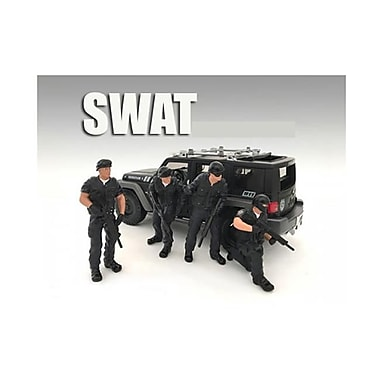 American Diorama 1 by 18 Scale SWAT Team Figure Set for Models, 4 Piece (DTDP2799)