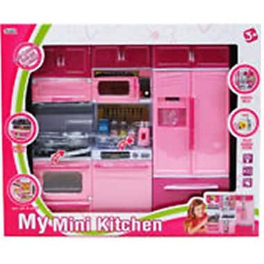 DDI 10 x 13 in. My Mini Kitchen Play Set - Gray, Dark & Light Pink (DLR340142)