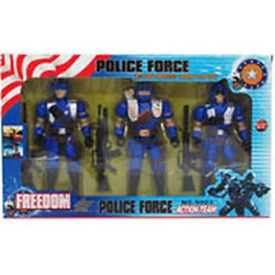 Arcady 7 in. Police Force Action Figures, Assorted Color (DLR340010) 24133706