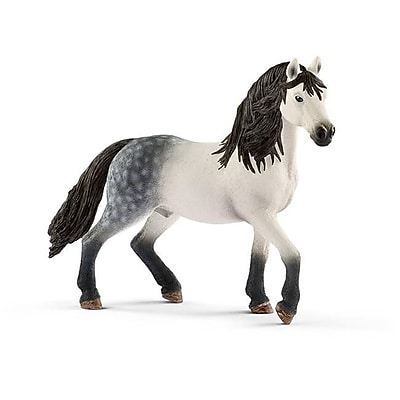Schleich North America Andalusian Stallion Mare Toy Figure, White & Black (TRVAL102385) 24133679
