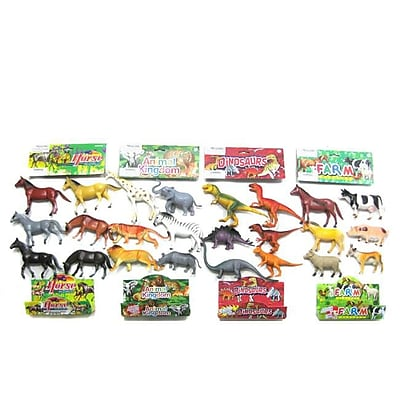 DDI Animal, Jungle, Farm, & Dinosaur, 4 Assorted - Medium, Case of 48 (DLR358902) 24129517