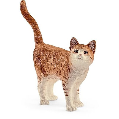 Schleich North America Cat Toy Figure, Brown & White (TRVAL102470) 24129528