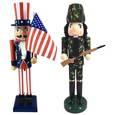 Danson Hong Kong XDHK32526MOD1 15 in. Novelty Wood Nutcracker (TRVAL81654) 24129748