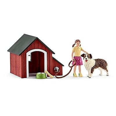 Schleich North America Dog & Girl Kennel