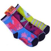 Trolls Trolls Girls Crew Socks - 3 Pairs, Size 13-4 (KMSH6087)