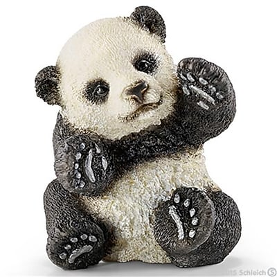 Schleich North America Panda Cub, Playing Toy Figure - White & Black (TRVAL98461) 24133645
