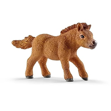 Schleich North America Mini Shetty Foal Toy Figure, Brown (TRVAL102075)