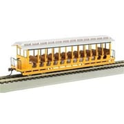 Bachmann Williams Ho JS Excursion Car Yellow and Silver (SPWS954)