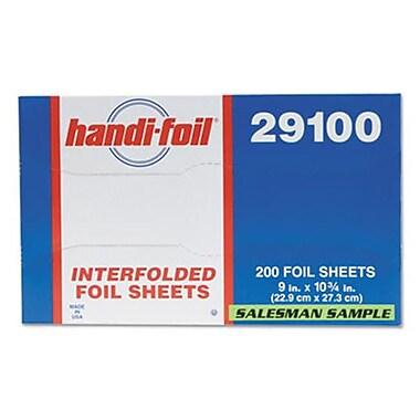 HFA Foil of America Aluminum Foil Sheets, 10.75 x 9 in. 200 Per Pack & Pack of 12 (ESSEN12504)