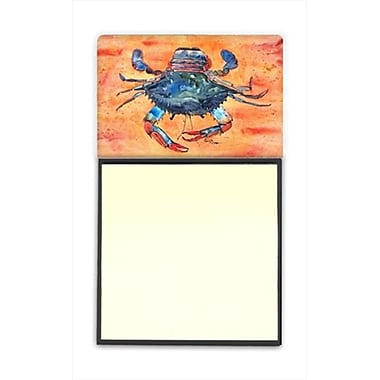 Caroline's Treasures Crab Refillable Sticky Note Holder or Post-it Note Dispenser, 3 x 3 In. (CRLT59983)