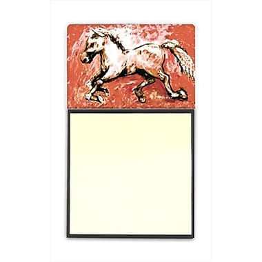 Caroline's Treasures Shadow the Horse in Red Refillable Sticky Note Holder or Post-it Note Dispenser, 3 x 3 In. (CRLT60278)