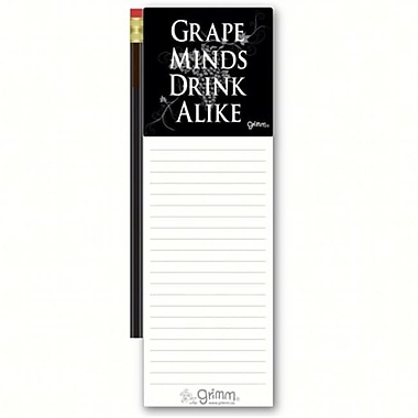 Grimm Grape Minds Drink Alike Magnetic Note Pad with Pencil (GC22956)