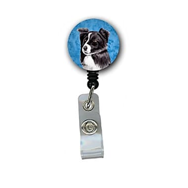 Caroline's Treasures Border Collie Retractable Badge Reel Or Id Holder With Clip (CRLT27453)