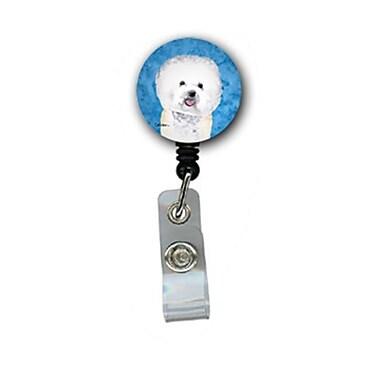 Caroline's Treasures Bichon Frise Retractable Badge Reel Or Id Holder With Clip (CRLT27364)
