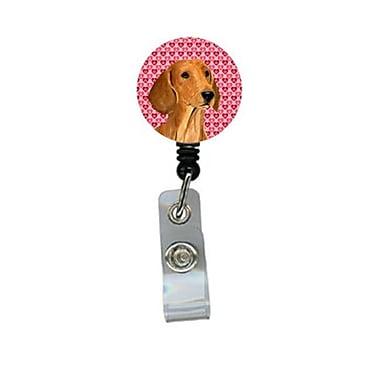 Caroline's Treasures Dachshund Retractable Badge Reel Or Id Holder With Clip (CRLT29649)
