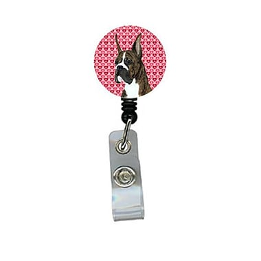 Caroline's Treasures Boxer Retractable Badge Reel Or Id Holder With Clip (CRLT29817)
