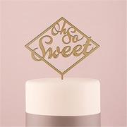 Wedding Star Oh So Sweet Acrylic Metallic Gold Cake Topper (WED9472)
