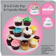 Euro Home 2 in 1 Cake Pop & Cupcake Stand, White - Case of 6 (DLR347869)