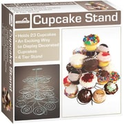 Euro Home 4 - Tier Cupcake Stand, Silver - Case of 6 (DLR341280)