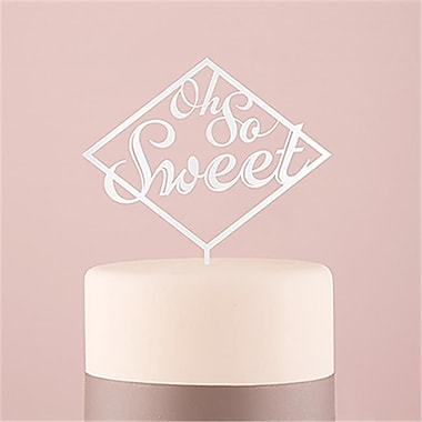 Wedding Star Oh So Sweet Acrylic White Cake Topper (WED9468)