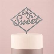 Wedding Star Oh So Sweet Acrylic Cake Topper - Metallic Silver (WED9473)