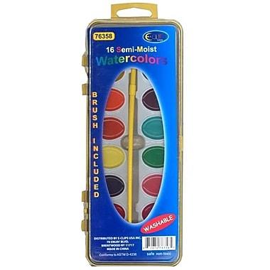 DDI Watercolor Paint set - 16 Colors plus Brush Case Of 48 (DLRDY241419)