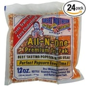 Great Northern Case (24) of Twelve Ounce Portion Popcorn Packs (DTXINT044)