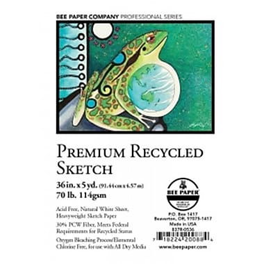 Bee Paper 36 in. x 5 yard Premium Recycled Sketch Pad (LVN4058)
