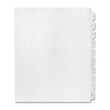 Kleer-Fax- Inc. Numerical Index Dividers- Exhibit 22- Letter White (SPRCH6675)