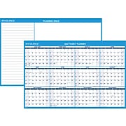 """2022 AT-A-GLANCE 32.5"""" x 48.5"""" Yearly Calendar, White/Blue (PM300-28-22)"""