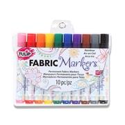 Tulip Permanent Nontoxic Fabric Markers Rainbow, 10Pack (31648)