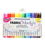 Tulip Permanent Nontoxic Fabric Markers, 20 Pack (28976)