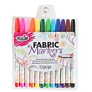 Tulip Permanent Nontoxic Fabric Markers, 12-Pack (26662)