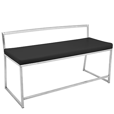 Lumisource Fuji Contemporary Dining/Entryway Bench in Black (BC-FUJI B1)