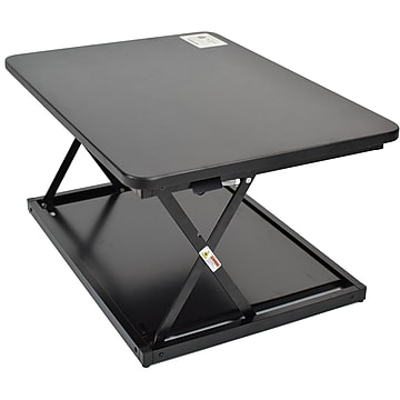 "Uncaged Ergonomics CHANGEdesk 3""-14"" Metal Adjustable Desk Riser, Black (CDMM-B)"